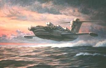 1/144 scale Alexeiev Lun Ekranoplan - Soviet WIG / Missiles